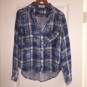 BELLA DAHL plaid button up shirt
